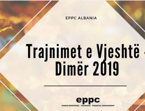 EPPC Albania -Trajnimet e Vjeshtë – Dimër 2019