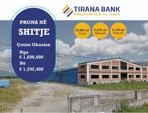 Tirana Bank – Prona okazion ne shitje